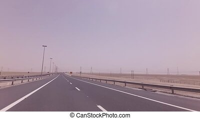 Road from Abu Dhabi to the Oasis Liwa - Road from Abu Dhabi...