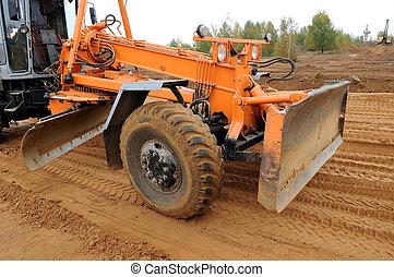 road grader bulldozer loader - working road grader bulldozer...