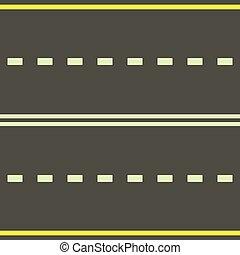 Road icon, cartoon style