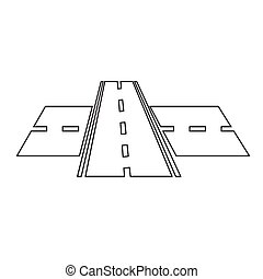 road icon illustration design