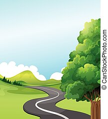 Road - Illustration of a road to the countryside