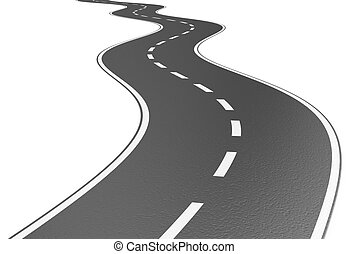 Road - Illustration of grey road on a white background