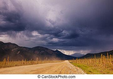 Road in Alaska