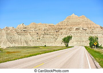 Road in Badlands