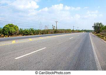 Road in countryside of Thailand