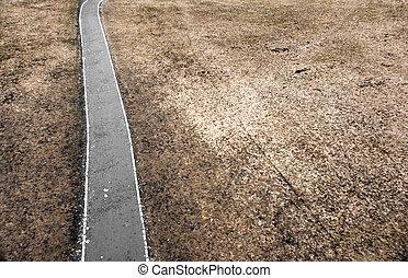 road in depressing landscape