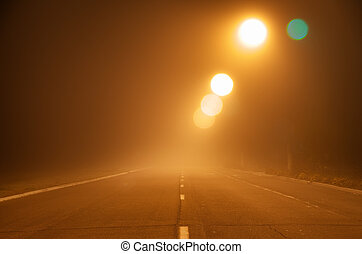 Road in fog