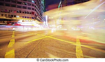 Road in Hongkong. Timelapse