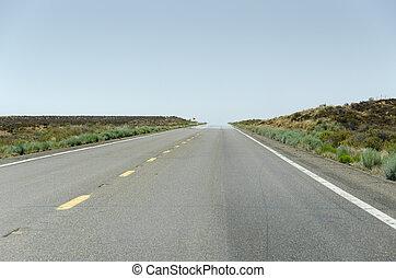 road in Monumenrt Vally - road in Monument Valley in Arizona...