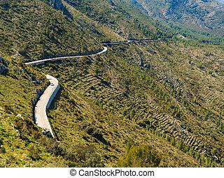 Road in mountains landscape, Spain