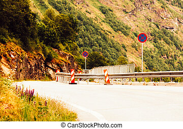 Road in Norwegian mountains