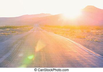 Road in prairie - Road in the prairie country