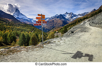 Road in Swiss Alps