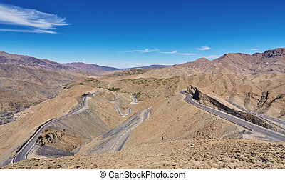 Road in the Atlas Mountains, Morocco
