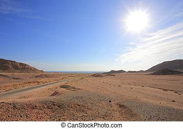 Road in the desert