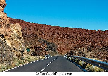 road in the frozen lava