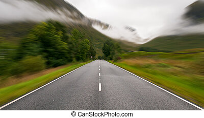 Road in the Highlands of Scotland