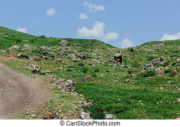 Road in the mountains of Armenia
