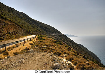 Road in the rural scene