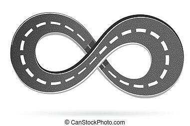 Road in the shape of an infinity sign