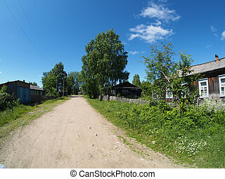 road in the village