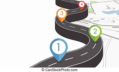 Road infographic illustration - Road infographic with...
