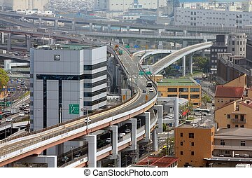 Road intersection in Japan