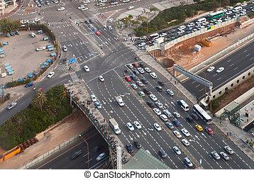 Road junction - Birdseye view of the road junction in Tel ...