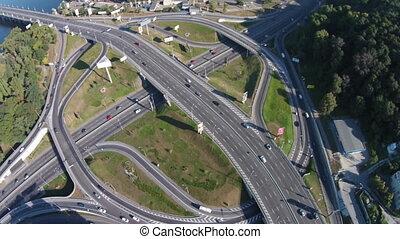 Road junction, Kiev. Ukraine - Two-level road junction on...