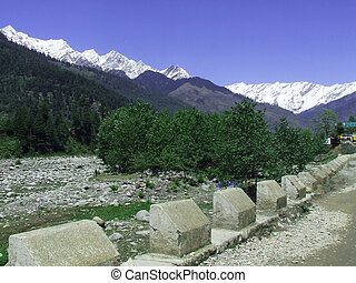 Road leading to a Manali landscape