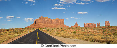 Road leading to Monument Valley in Arizona