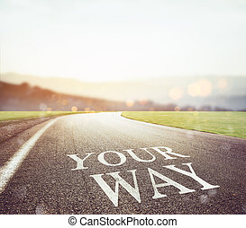 Road leading to your future