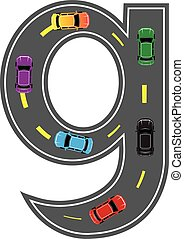Road Letter Alphabet Font