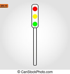 Road light, street lights icon in trendy flat style isolated on white background. Website pictogram. Internet symbol for your web site design, logo, app, UI. Vector illustration, EPS10.