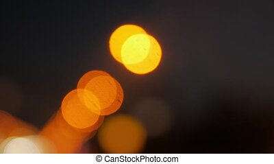 Road Lights Blurred Background