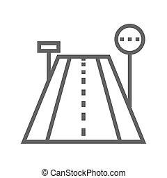 Road line icon