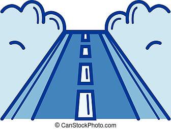 Road line icon.