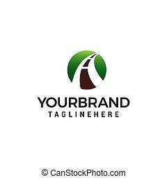Road logo design concept template vector
