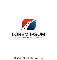 road logo. square design concept template