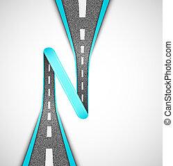 Road loop, vector. Eps 10