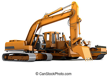 Road machinery - Group road machinery for road construction