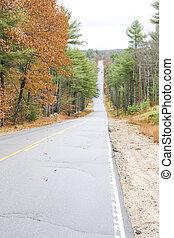 road; Maine; USA