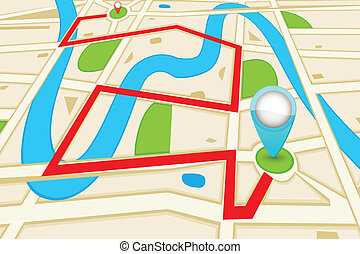 Road Map - easy to edit vector illustration of highlighted...