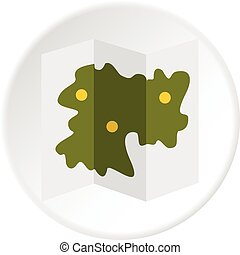 Road map icon circle