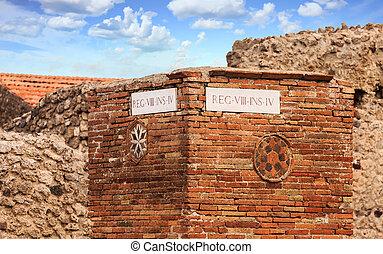 Road Marker in Pompeii