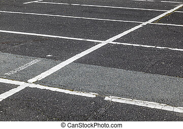 Road marking on the parking lot