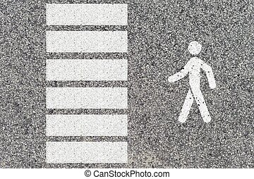 Road Markings - A close up shot of road markings