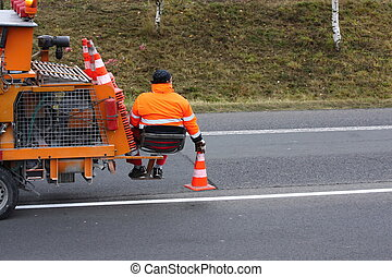 Road markings, Equipment for spraying of pedestrian...