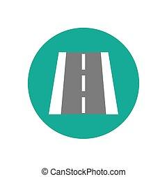 Road markings illustration