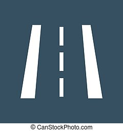 Road markings illustration silhouette